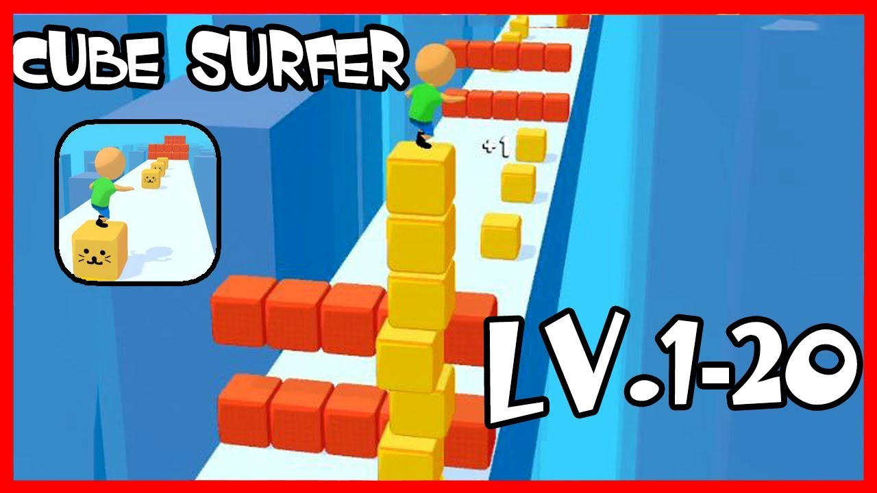 Cube Surfer Gameplay Level 1-20 – Voodoo Game