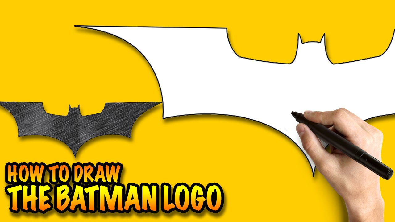 How To Draw The Batman Logo Easy Step By Step Drawing Lessons For