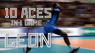 10 aces in one game by Wilfredo Leon! / 10 эйсов Вильфредо Леона в матче против «Кузбасса»!