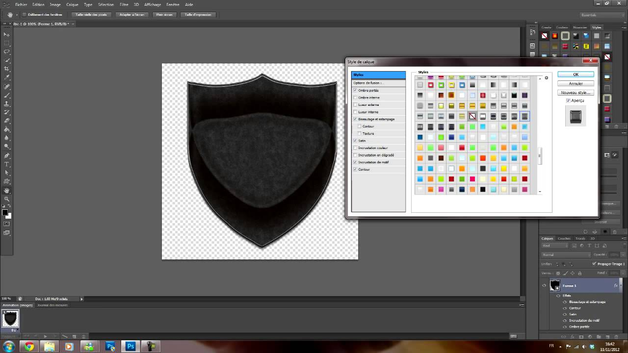 forme blason photoshop cs6