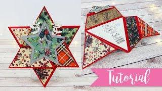 Biglietto Stella di Natale - DIY Triangle Star Card