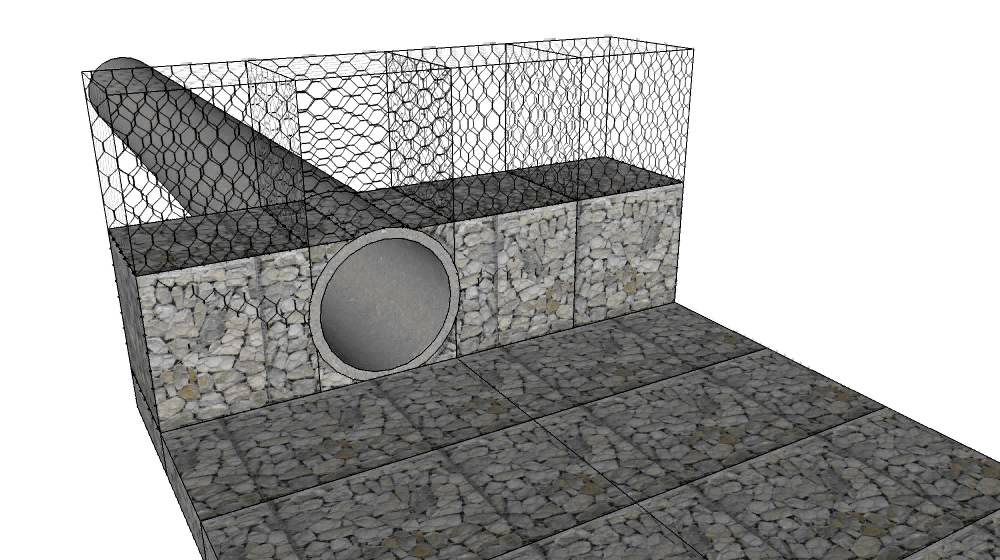 Pipe Within Gabions Avi Youtube