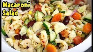 How To Make Healthy Macaroni Salad Recipe / Recipe For Diet /By Yasmin's Cooking