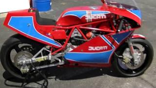 1983 Ducati 750 TT1 Works Racing Motorcycle