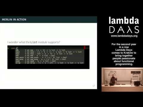 Lambda Days 2015 - Marek Kubica -  Brave New OCaml World