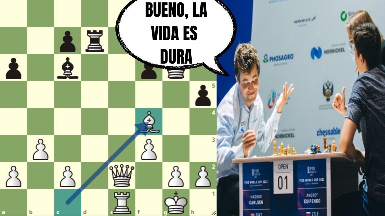 ¡ADIÓS! (eliminado) 😢: Carlsen vs Esipenko (Copa del Mundo FIDE)