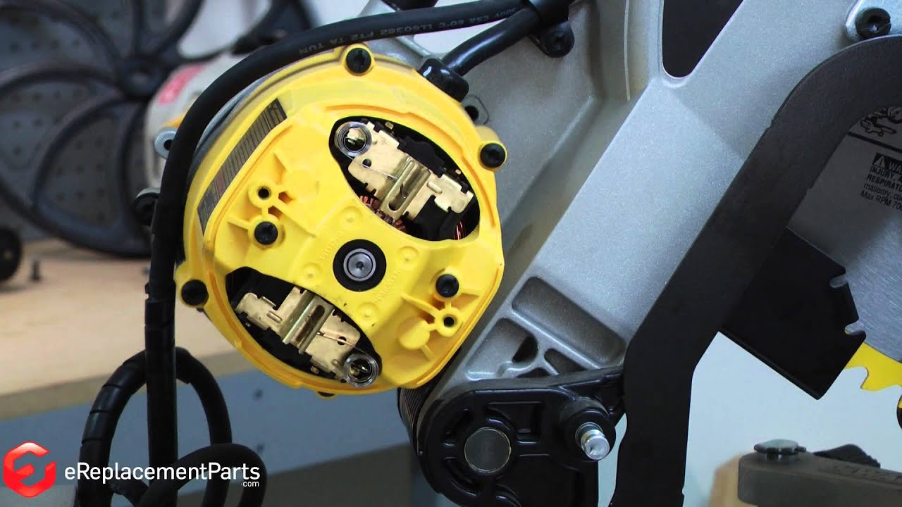 How to replace the brushes on a dewalt dw718 miter saw a quick fix how to replace the brushes on a dewalt dw718 miter saw a quick fix part 381028 08 youtube greentooth Choice Image