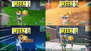 FORTNITE SEASON 9 SECRET BATTLESTAR LOCATION (WEEK 1, 2, 3 &4)