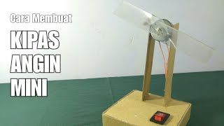 Cara membuat kipas angin mini sederhana menggunakan kardus