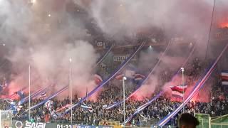 GENOA DERBY 07.04.2018 U.C. Sampdoria - CFC Genoa 0:0, Choreo, Pyro, Pyrotechnik, Support