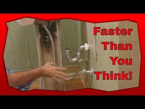 How To Install A Pedestal Sink In A Bathroom Youtube