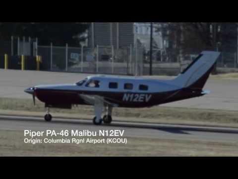 Piper PA-46 Malibu N12EV Landing @ Springfield-Branson National Airport
