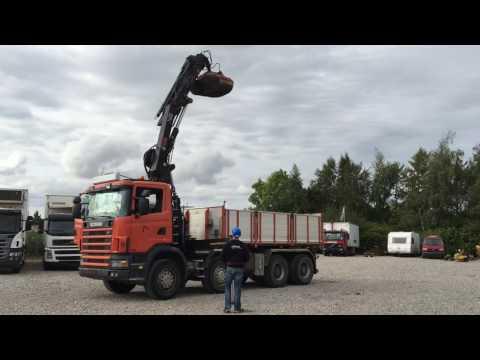 Scania 8X4 med Tiplad / HIAB kran. Klaravik.dk