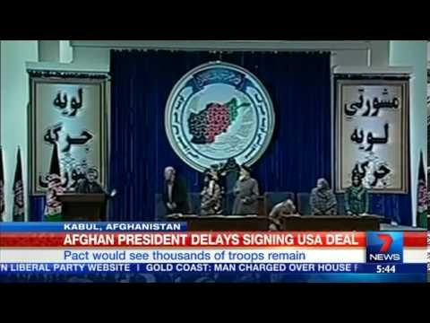 Afghanistan delays US security deal