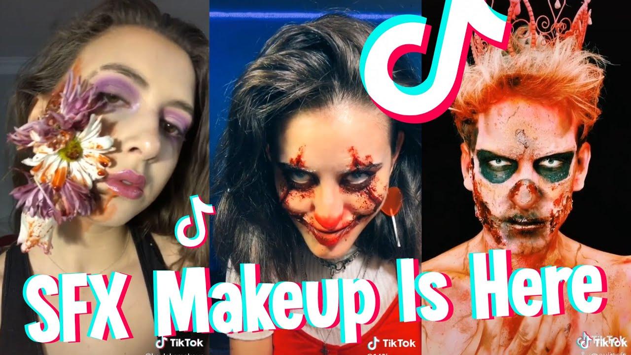 Maquillage Halloween 95.Sfx Makeup On Tiktok Scary Makeup Part 2 Youtube
