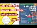 Cara Daftar Online Bantuan UMKM 2,4 Juta || dari Pemerintah