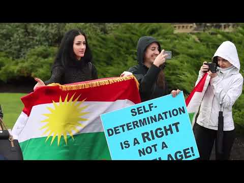 Kurdish demo on The Hill