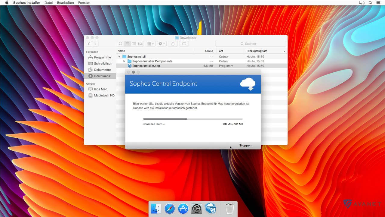 How to install the Sophos Central Endpoint (macOS) - Avanet
