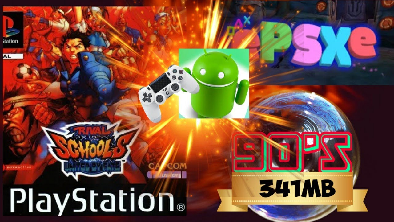 Rival Schools short gameplay (ePSXe Emulator android) with