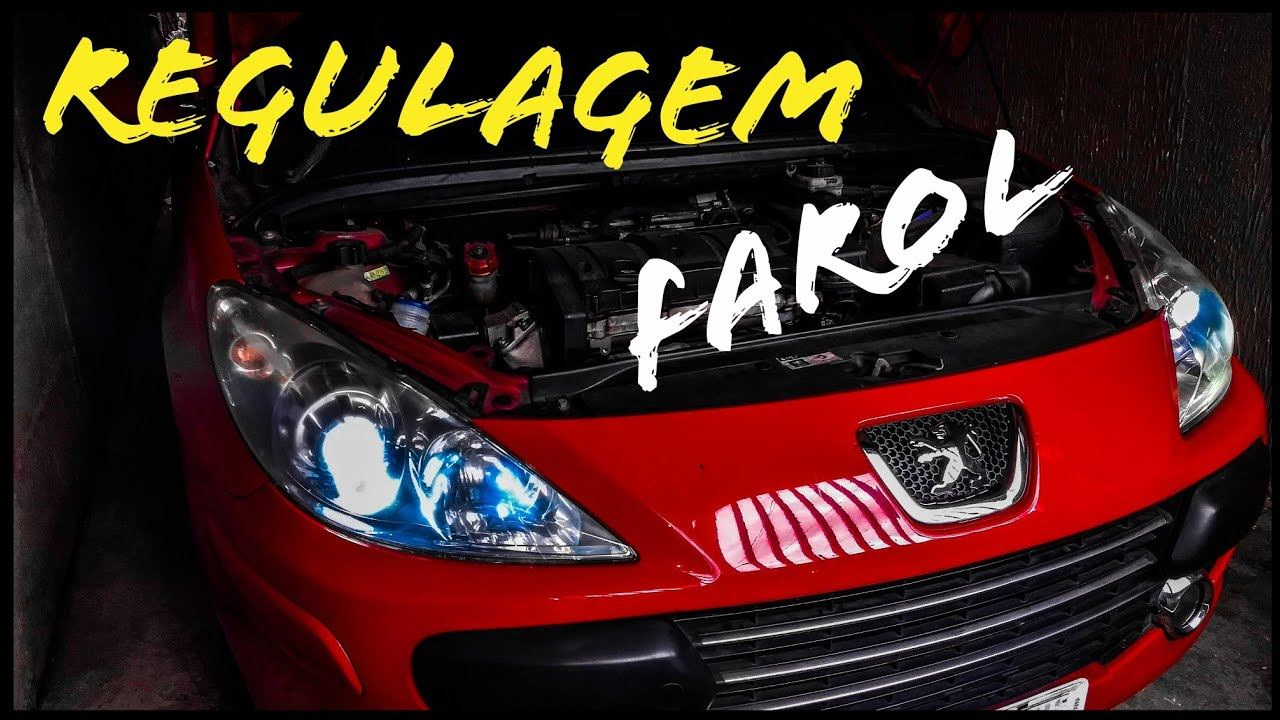 REGULAMOS O FAROL MANUALMENTE !! - PEUGEOT 307 « MANUAL PEUGEOT »