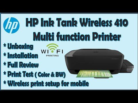 Hp ink tank wireless 410 printer || unboxing, installation & review ||  #hpinktank410 #hpcolorprinter