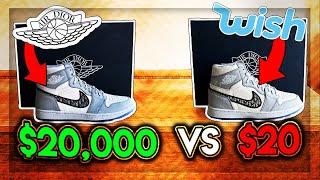 REAL VS FAKE DIOR JORDAN 1 ($20,000 VS $20)