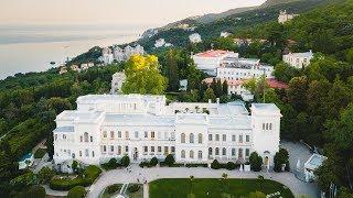Крым 18 Ливадийский дворец аэросъёмка
