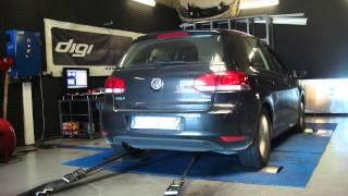 * Reprogrammation Moteur * VW Golf 6 1.6 tdi 105cv @ 150cv dyno Digiservices Paris