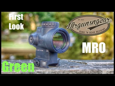 Green Trijicon MRO Optic: First Look