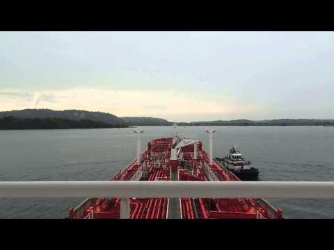Panama Canal Transit North bound  aproaching  lock N 3