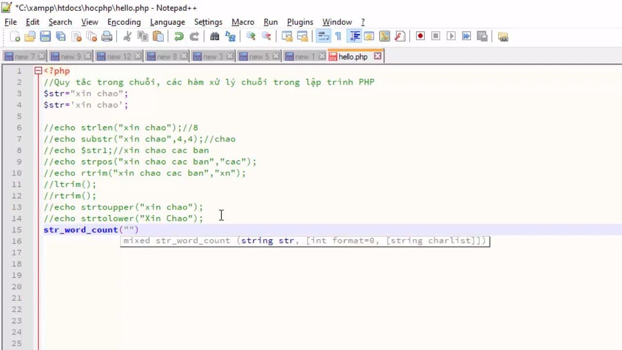 Xử lý chuỗi trong PHP - các hàm cơ bản cho người mới bắt đầu