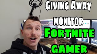 Fortnite Gamer Get Free Monitor | Fornite Vlog