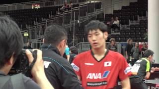 男子シングルス1回戦 村松雄斗 vs ストヤノフ )第4ゲーム