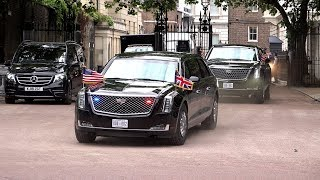 Donald Trump Motorcade & Helicopters in London