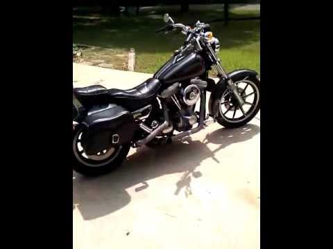 Harley Davidson custom ridgid 84 FXR 1340cc EVO - YouTube