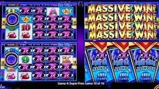 ★MEGA BIG WIN★ Wonder 4 Miss Kitty Slot  Super Free Games & Miss Kitty Jackpot   $10 Max Bet