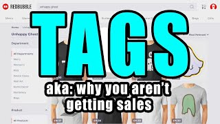 How to use tags on Redbubble for Passive Income
