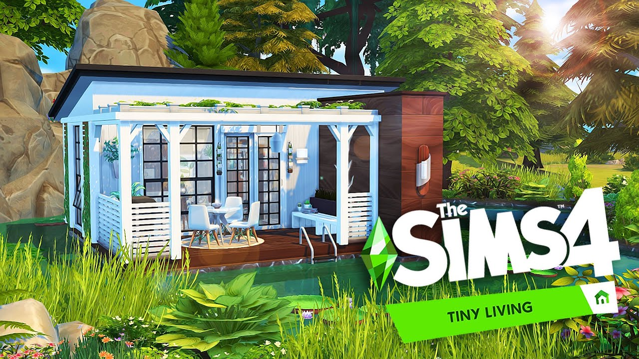 FLOATING TINY HOUSE 🌲  The Sims 24: Tiny Living  Speed Build