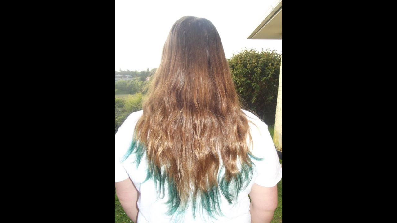 How To Dip Dye Your Hair Using Food Colouring Tutorial Youtube