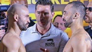 Paulie Malignaggi vs. Artem Lobov FULL WEIGH IN & FINAL FACE OFF | Bare Knuckle Boxing