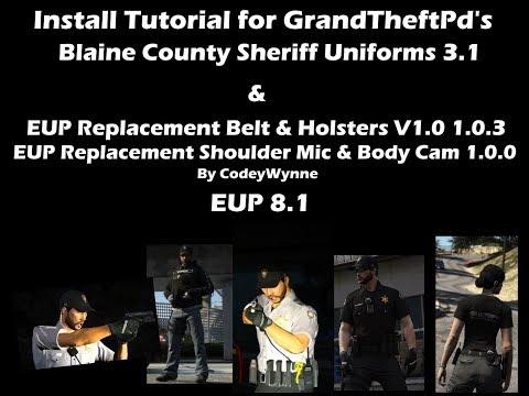 GTAV - EUP Blaine County Sheriff Uniforms 3.1 By GrandTheftPD - Install Tutorial