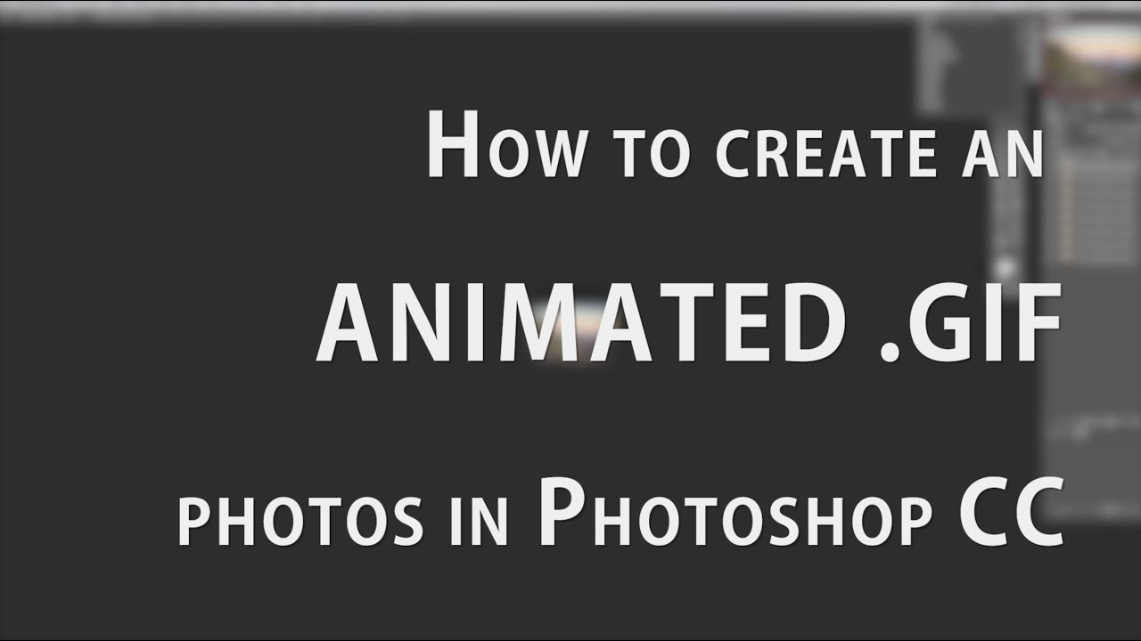 How To Animate A Gif In Photoshop
