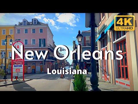 New Orleans Louisiana 4k Travel Tour French Quarter