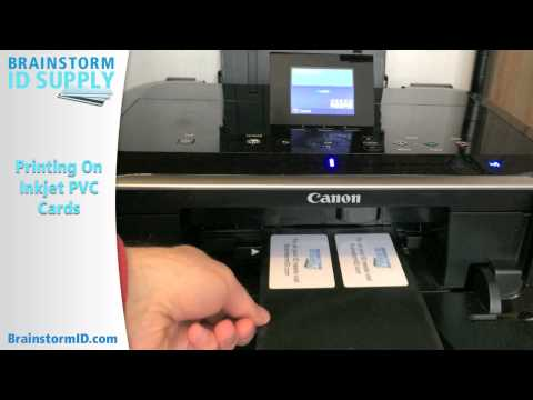 Printing on Inkjet PVC ID Cards (Printing Only)