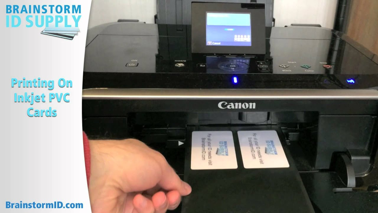 Printing on inkjet pvc id cards printing only youtube reheart Images
