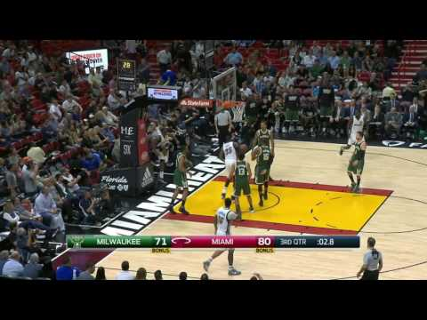 Milwaukee Bucks vs Miami Heat | January 21, 2017 | NBA 2016-17 Season