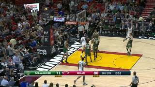 Milwaukee Bucks vs Miami Heat | January 21, 2017 | NBA 2016-17 Season