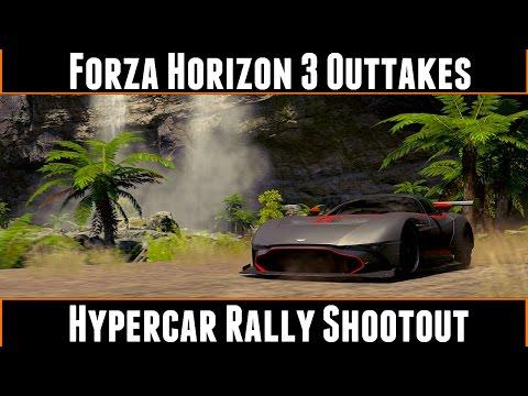 Forza Horizon Outtakes Hypercar Rally Shootout Youtube