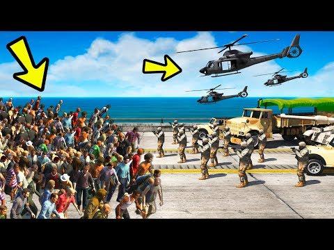 GTA 5 - ВОЕННЫЕ против ЗОМБИ! ФОРТ ЗАНКУДО Vs ЗОМБИ АПОКАЛИПСИС! Кто ПОБЕДИТ?!