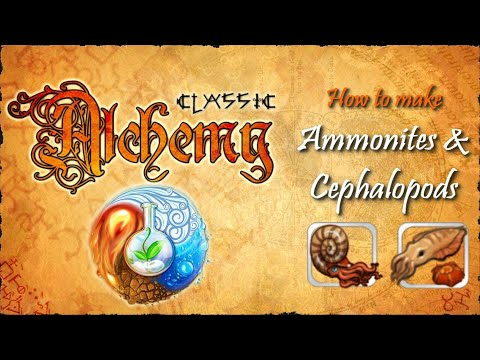 Alchemy Classic-How To Make Ammonites & Cephalopods Recipes Walkthrough